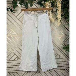 LULULEMON White Wide Leg Cropped Yoga